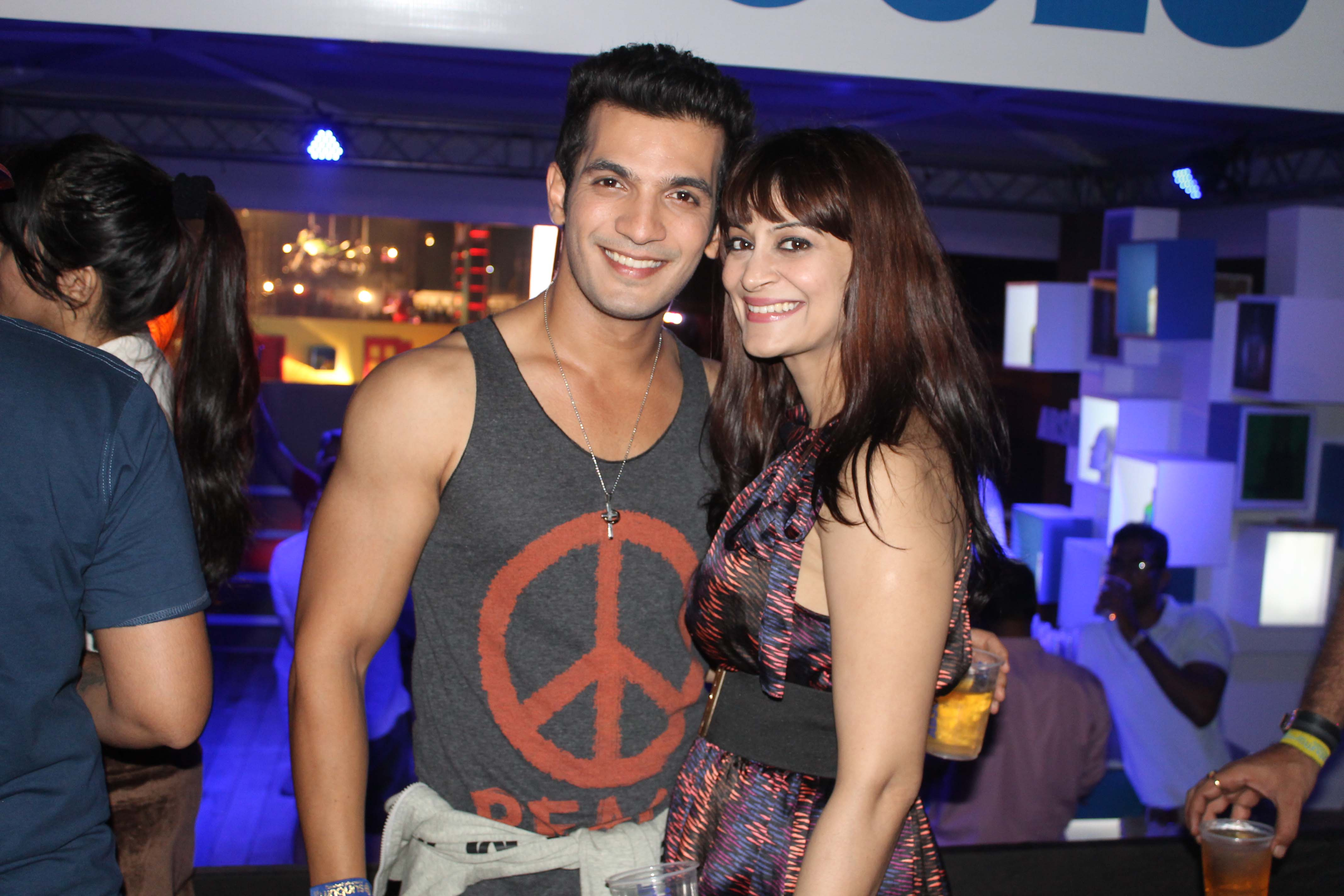 Arjun Bijlani With Cany Brar At Party