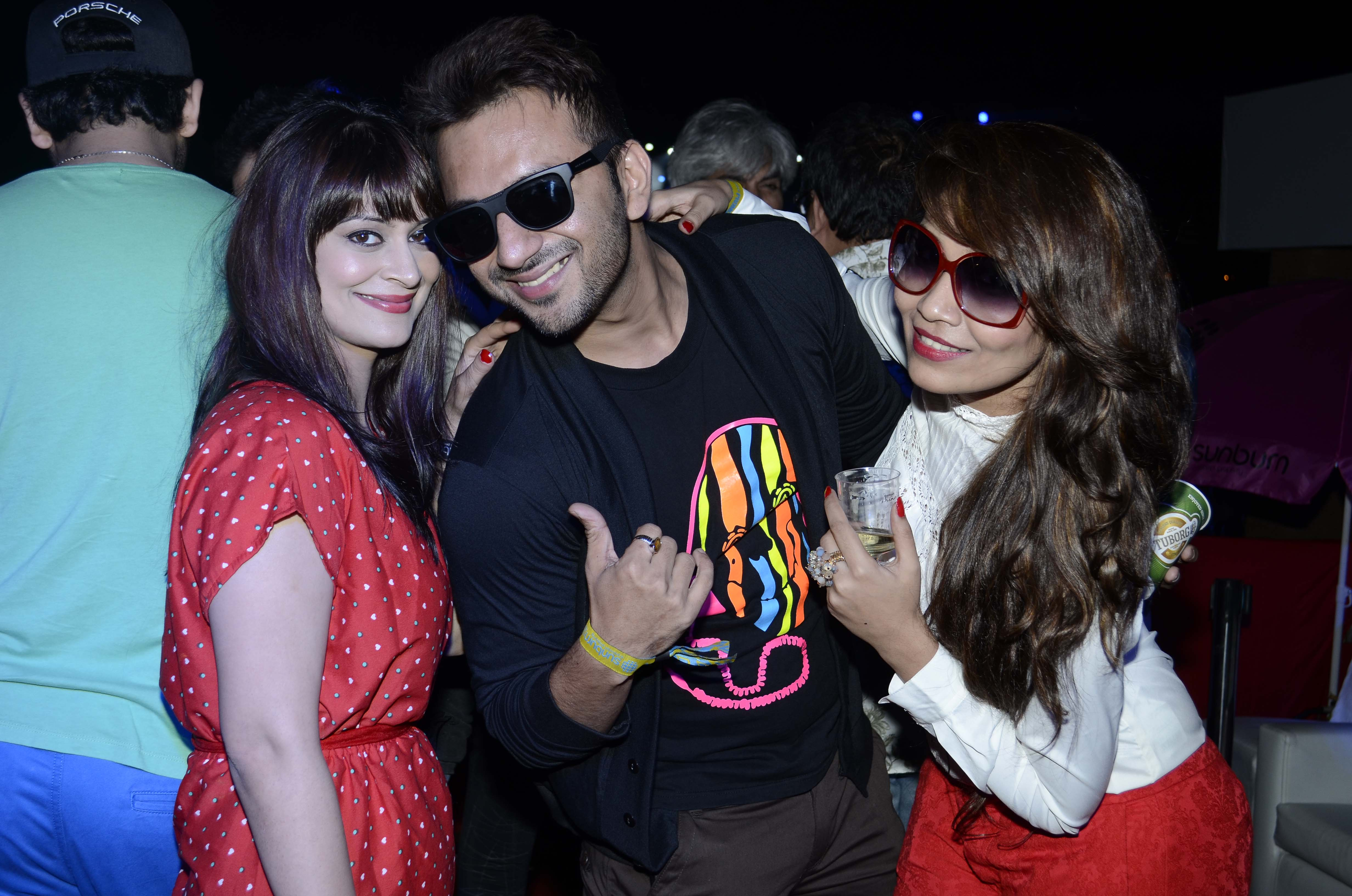 Candy Brar Ali Merchant And Aliza Khan At Party
