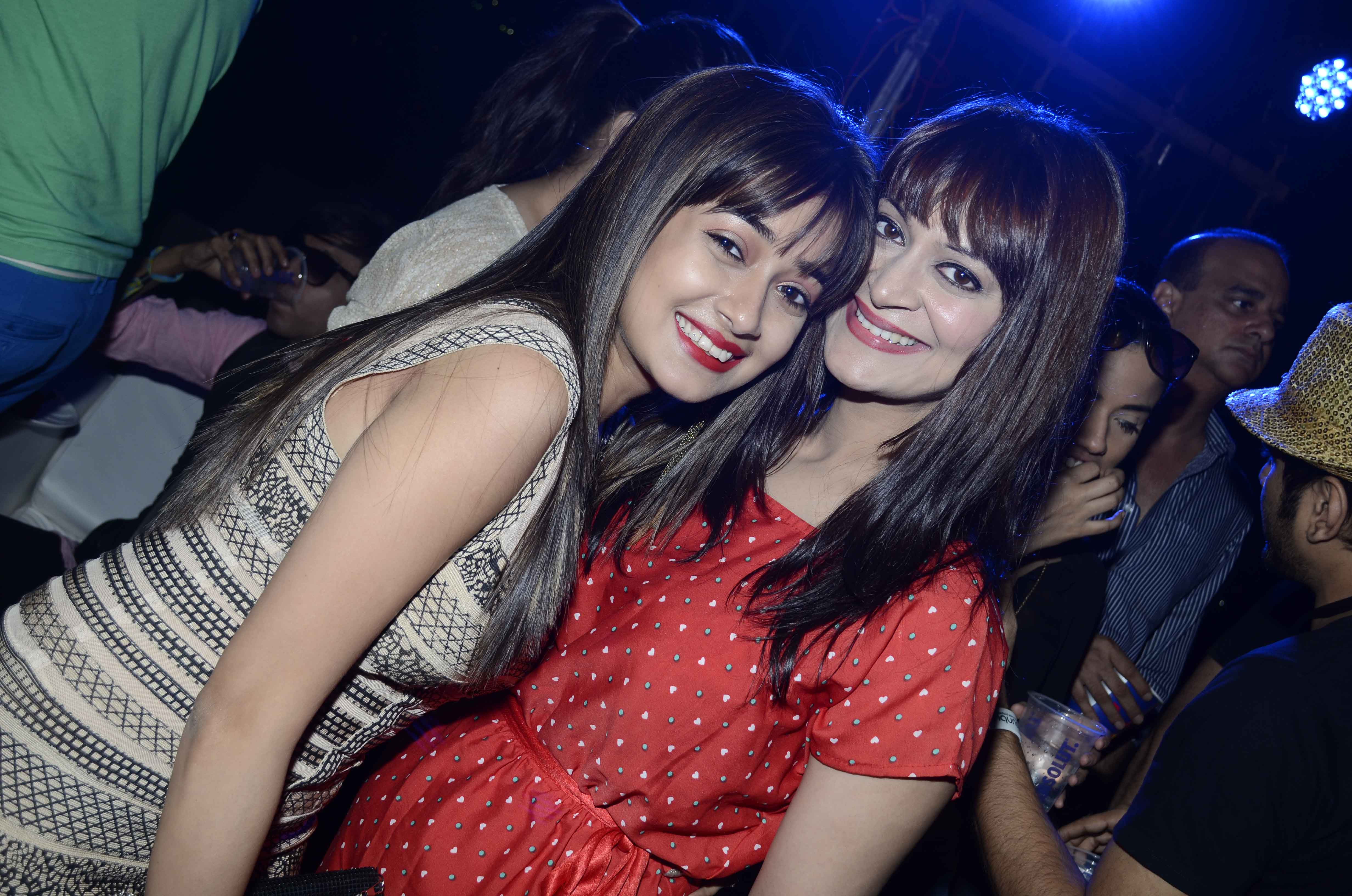 Tina Dutta With Cnady Brar At Party