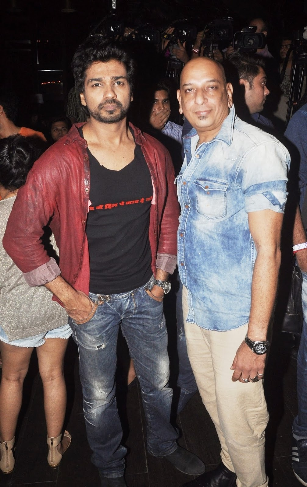 Nikhil Dwivedi and ace designer Salim Asharally at the Tamachey event