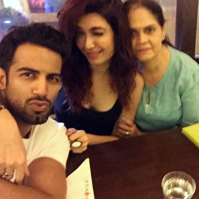 Upen and Karishma with Karishma's mother