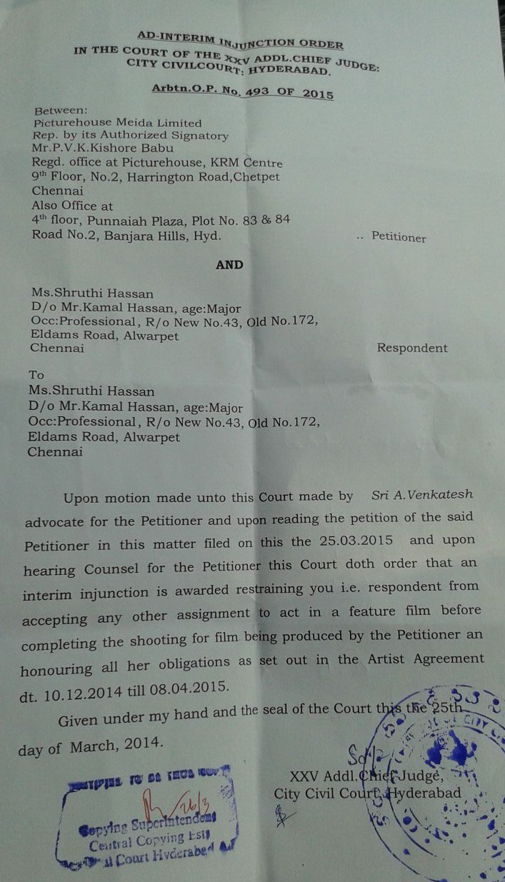 Copy of the Court Order