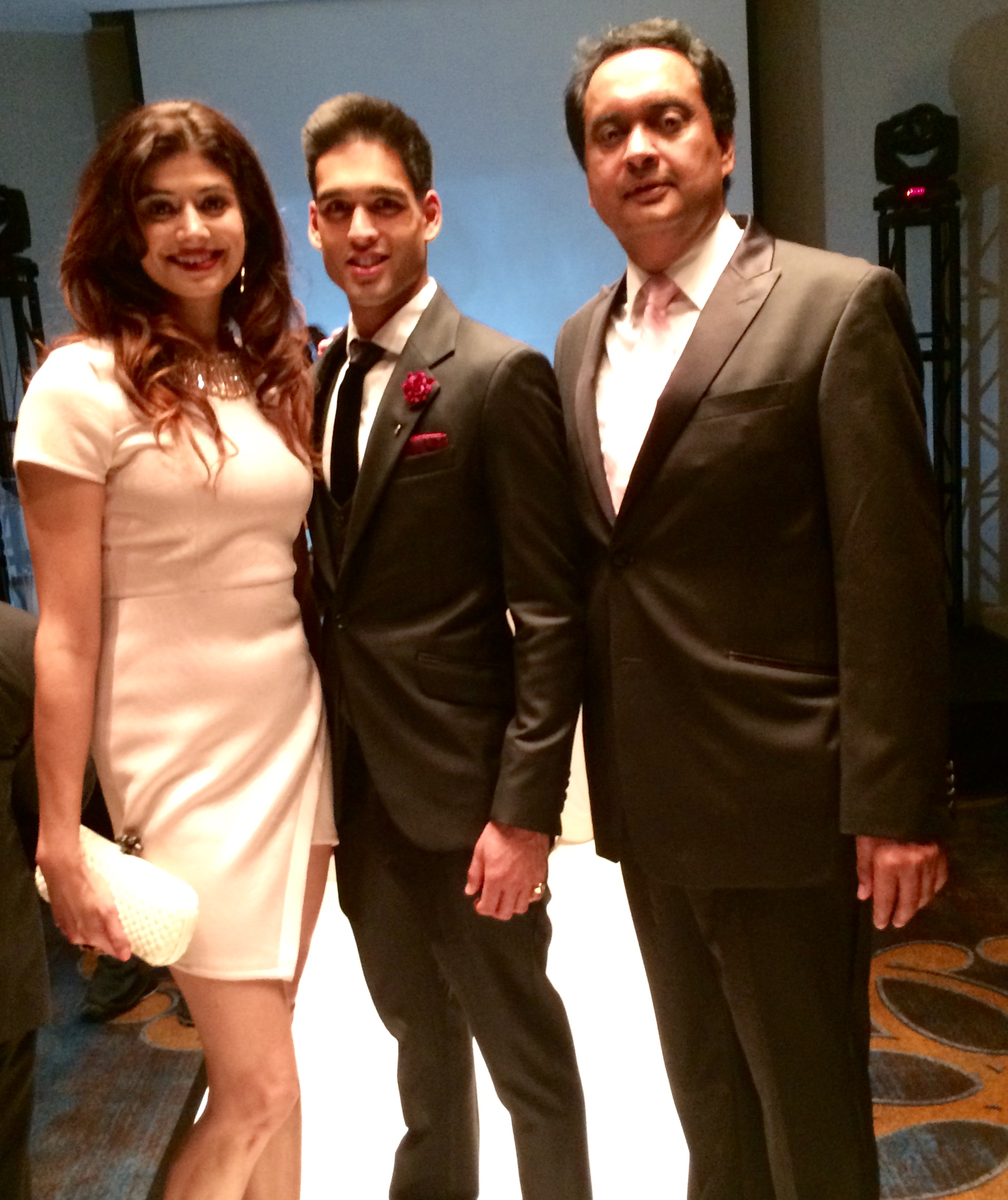 Pooja Batra,  Sid Mallya and Mr. Randeep Dhillon CEO, Miss Duniya 2015 attended the launch party of Miss Duniya Global Pageant 2015, Los Angeles, California