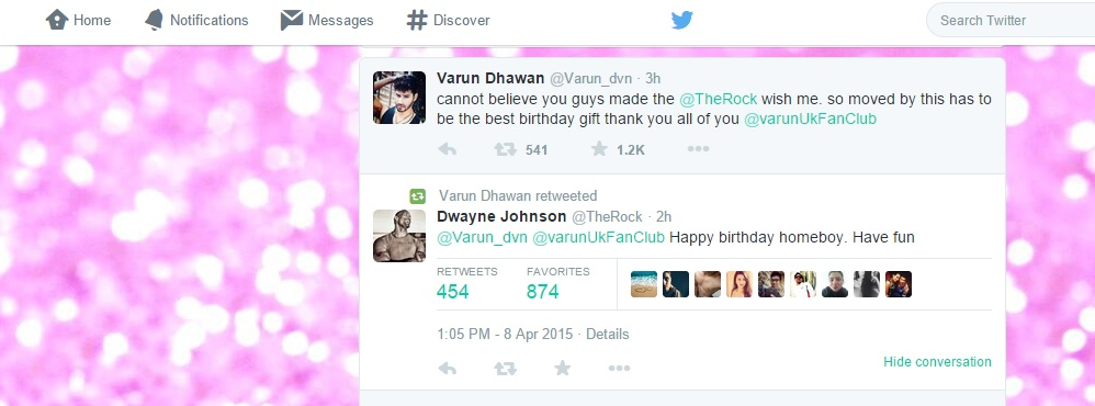 varun dhawan, the rock