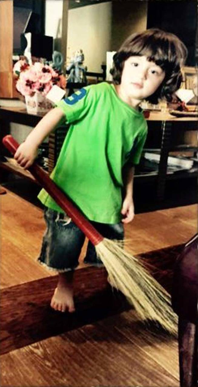 Abram cleaning
