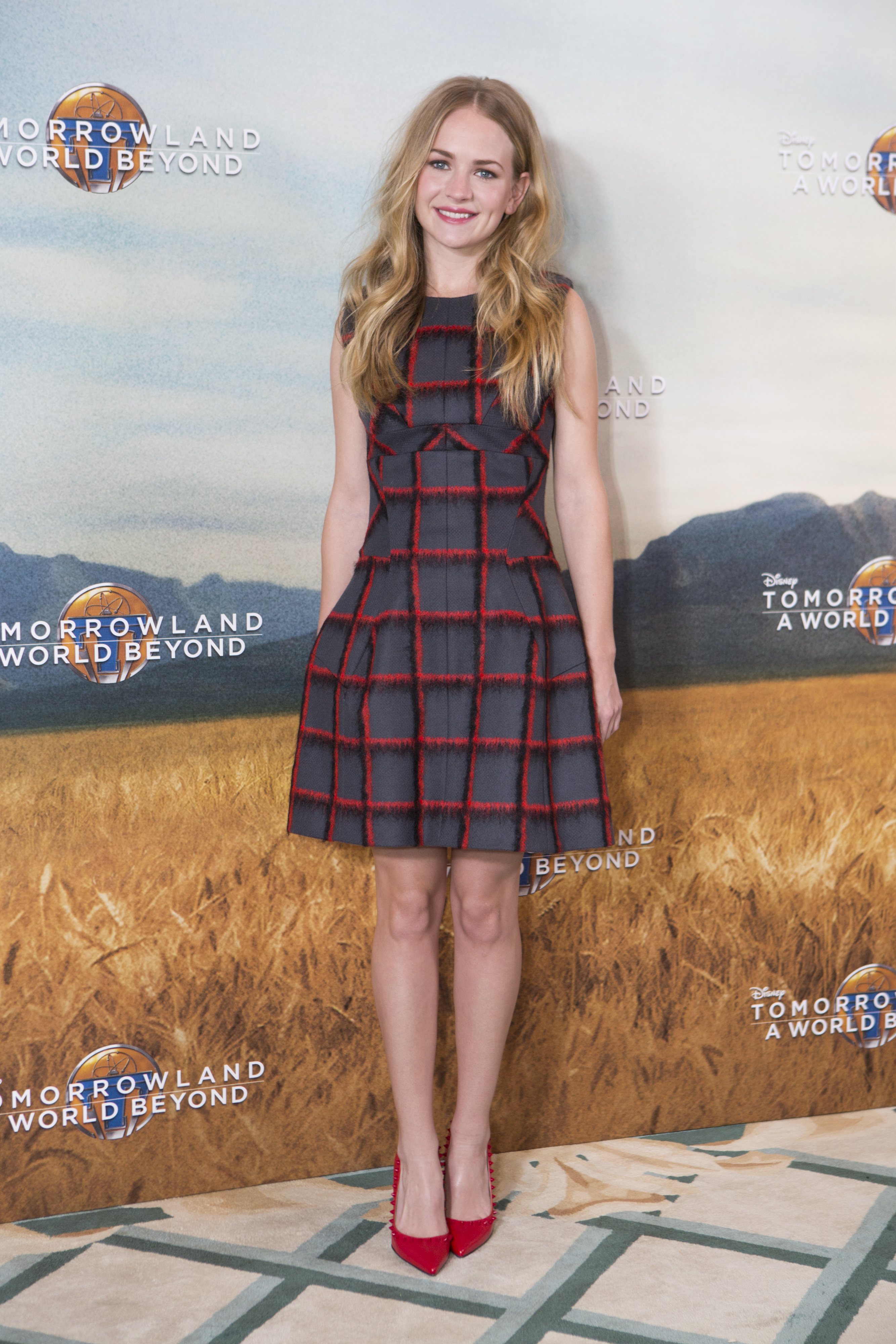 Actress Britt Robertson attends the European photo call of Disney?s ?Tomorrowland: A World Beyond? on May 18 in London, UK (Credit: James Gillham/ StingMedia.co.uk