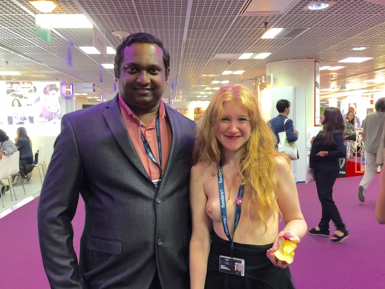 Rupesh Paul with semi-nude French actress Aurore Nouailhas