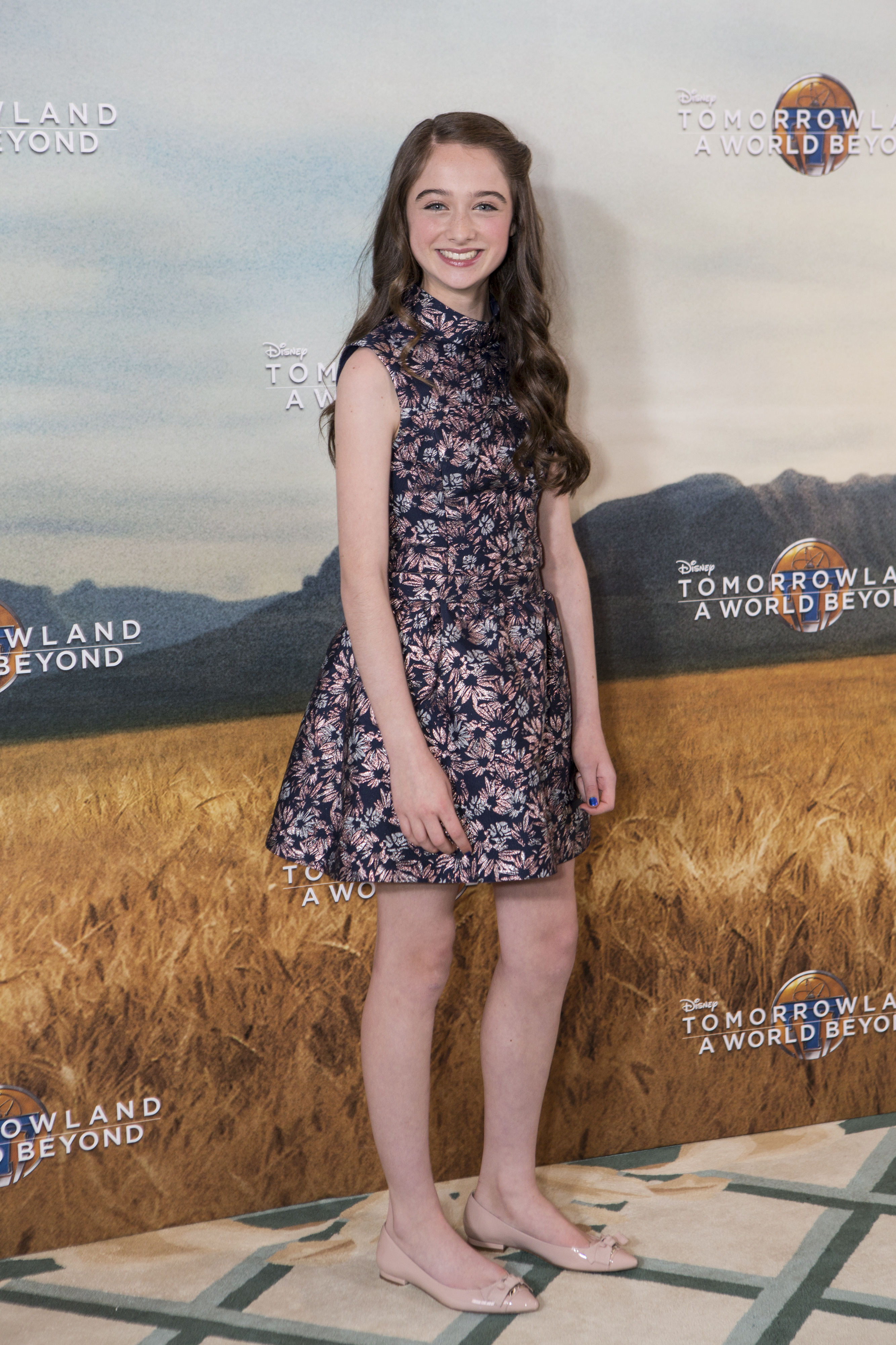 Actress Raffey Cassidy attends the European photo call of Disney?s ?Tomorrowland: A World Beyond? on May 18 in London, UK (Credit: James Gillham/ StingMedia.co.uk