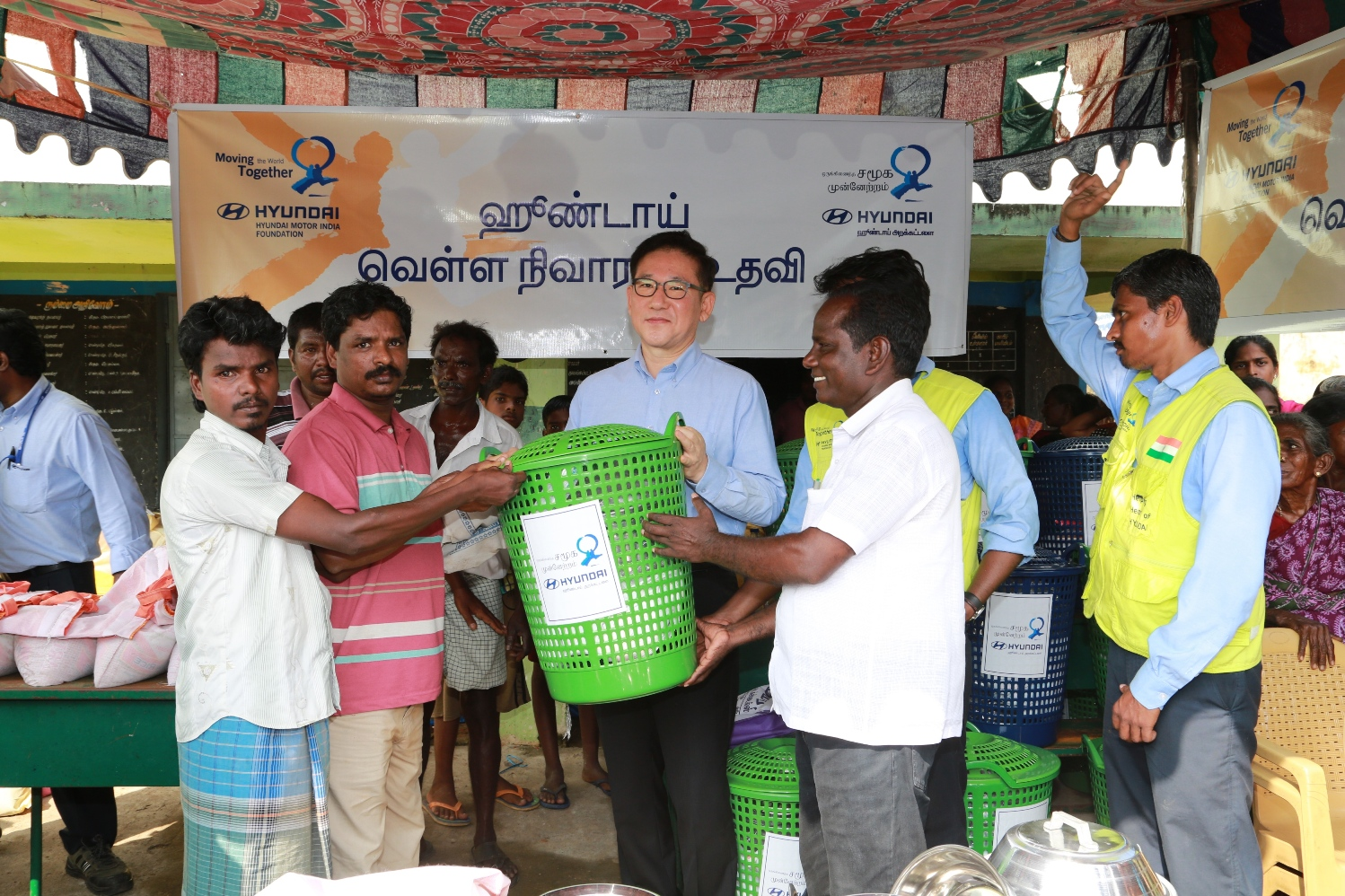 Hyundai Motor India foundation continues Relief and Rehabilitation at Villages of Sriperumbudur- Image 1
